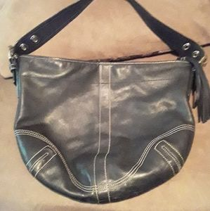 Coach hobo blk leather purse